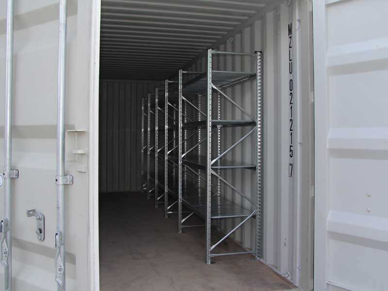 container kaufen lagercontainer 20 39 mit regalen typ 600lr menzl gmbh. Black Bedroom Furniture Sets. Home Design Ideas