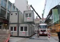 Aufbau Containeranlage